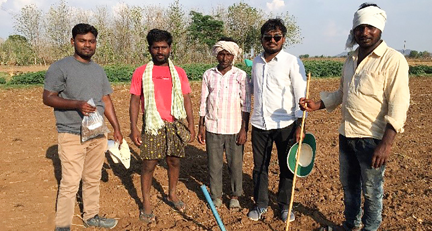 A team which conducted soil sampling in the tribal areas of Khammam and Bhadradri Kothagudem districts. Photo: R Prithvi, ICRISAT