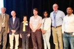 (From L-R) Drs Dave Hoisington, Jeff Johnson, Nora Lapitan, D Bertioli, J Pasupuleti, D Jordan and D Fonceka. Photo: Bob Parker, National Peanut Board of the US