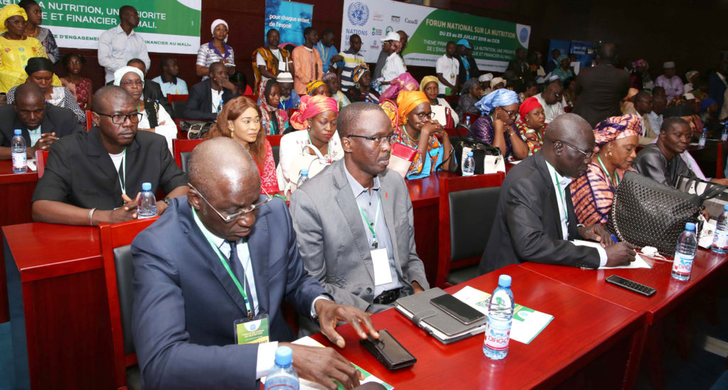 Participants of the Mali National Nutrition Forum called for strong engagement of the Government to double investments on nutrition.