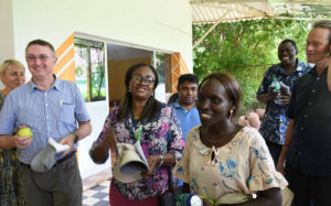 Dr Nathalie Diagne (first right in the picture), microbiologist and Director of the Centre National de Recherches Agronomique de Bambey (CNRA-Bambey)