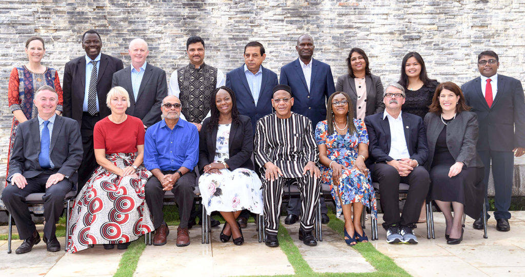 Board members with Management Group members. Photo: A Diama, ICRISAT