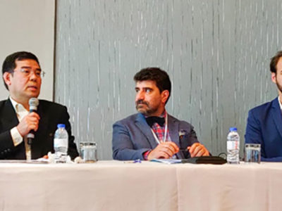 Dr Janila Pasupuleti, Principal Scientist, Groundnut Breeding, ICRISAT (far right), as part of the panel deliberating on 'What's Hot in the High Oleic Oils Market'. Photo: Helene, HOC