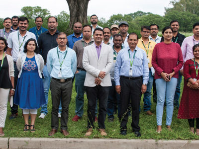 Participants at the 2-day data hackathon at ICRISAT, Hyderabad. Photo: PS Rao, SICRISAT