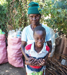 Elderly people are left to feed the children, with little means to survive the food crisis.