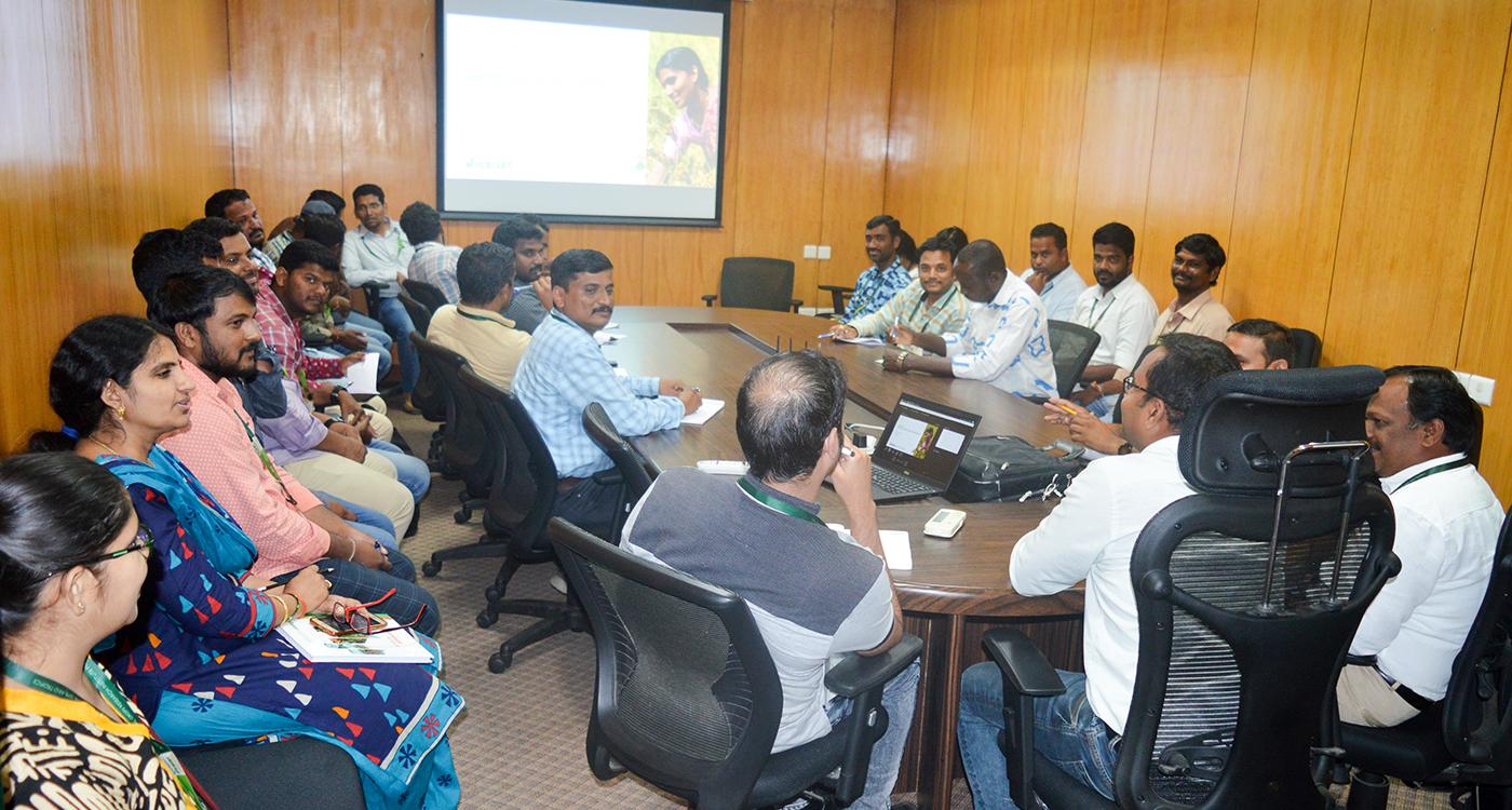 Genebank staff at a session on Quality Management organized recently at ICRISAT, Patancheru. Photo: Ajaykumar G, ICRISAT