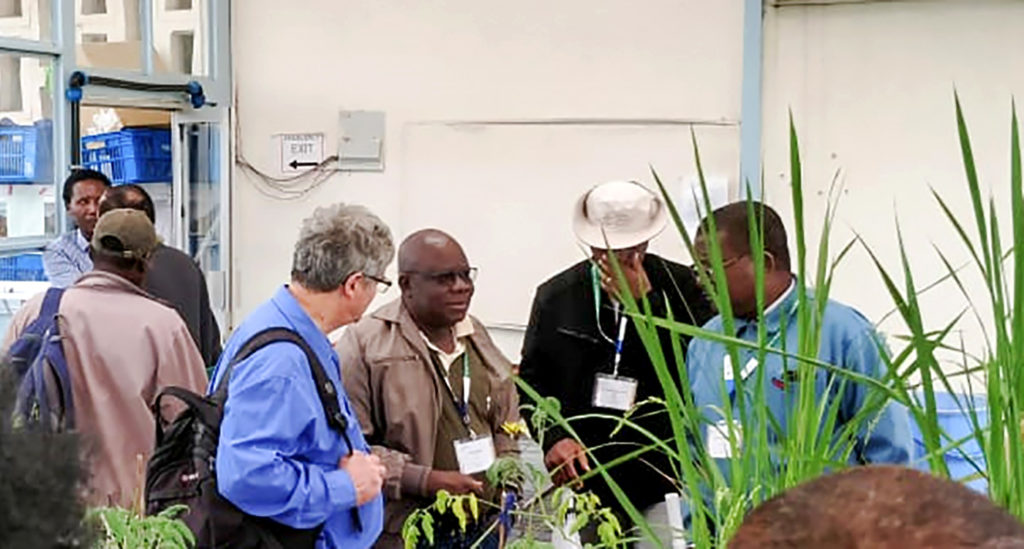Team members get a tour of the facilities. Photo: CRP-GLDC