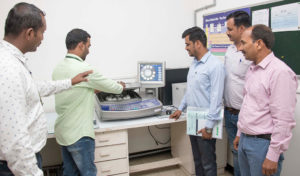 X-Ray fluorescence machine. Photos: S Punna, ICRISAT