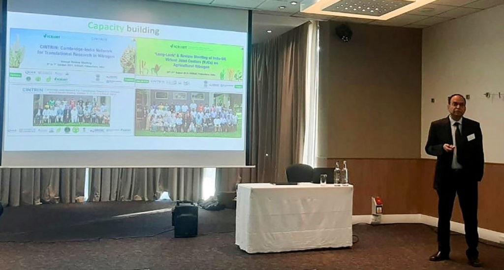 Dr Rajeev Gupta talking about CINTRIN. Photo: BBSRC
