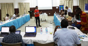 Dr Abhishek facilitates a workshop during the conference. Photo: M Magassa-ICRISAT