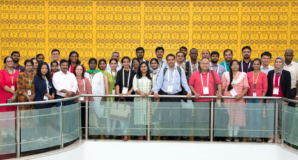Participants of the workshop pose for a group photo. Photo: S Punna, ICRISAT