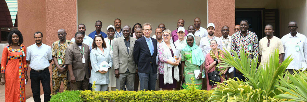 The visiting delegates and ICRISAT staff at ICRISAT Mali, Bamako. Photo: N Diakité, ICRISAT