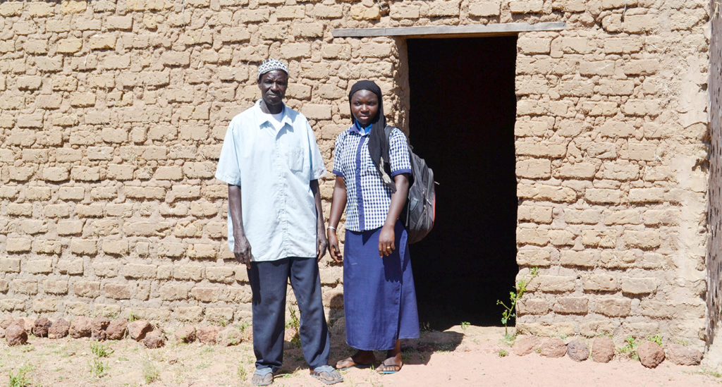 Farmer Timothée Goita has built a house in Yorosso town to facilitate accommodation for his daughter Safiatou, who studies there. Photo: N Diakite, ICRISAT