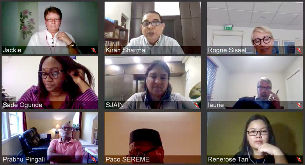 Screenshot of one of the sessions of the virtual meeting.