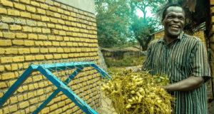 Sayilesi Gwizima, a groundnut farmer from Mchinji district.