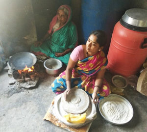 A CSR watershed project in Karnataka supports women like Ms Mukta Bai to take up income-generating enterprises. Photo: A Seshadri, ICRISAT