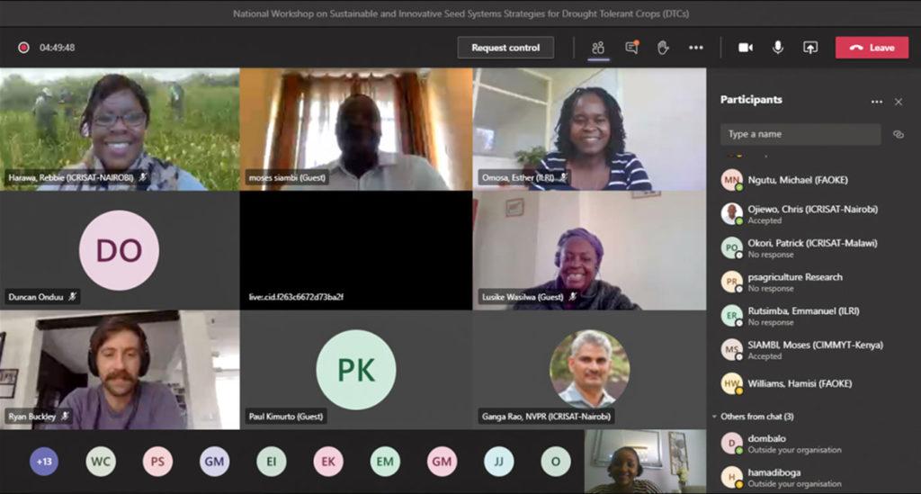 Screenshot of the virtual workshop held on 2-3 December.