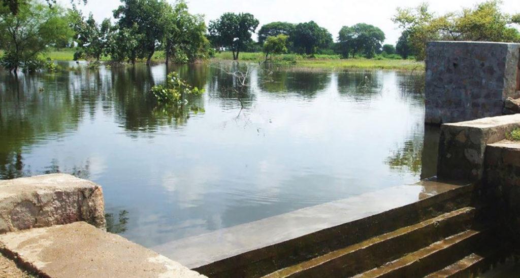 A check dam in Parasai-Sindh watershed in Jhansi, Uttar Pradesh. Photo: Ramesh Singh, CAFRI