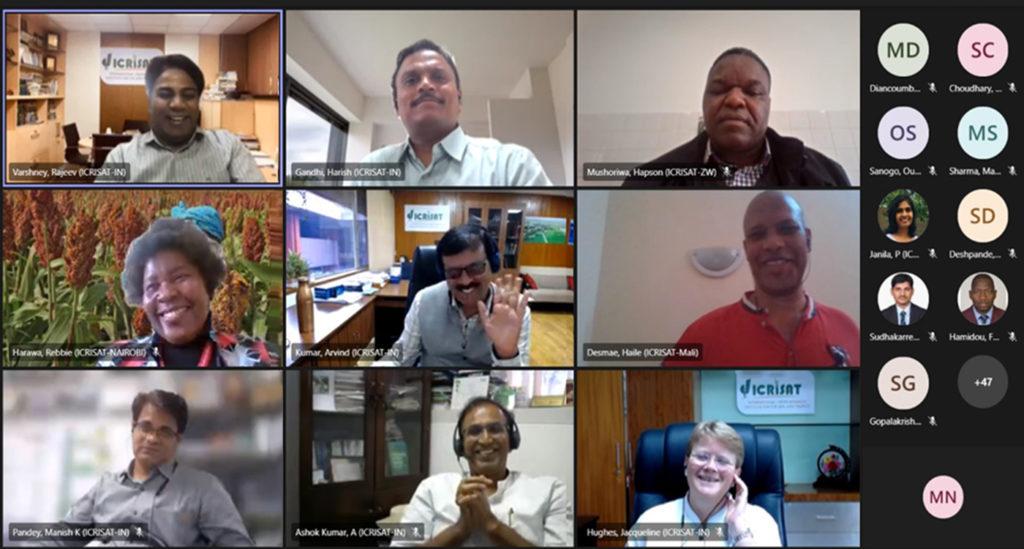 Screenshot of the launch meeting.