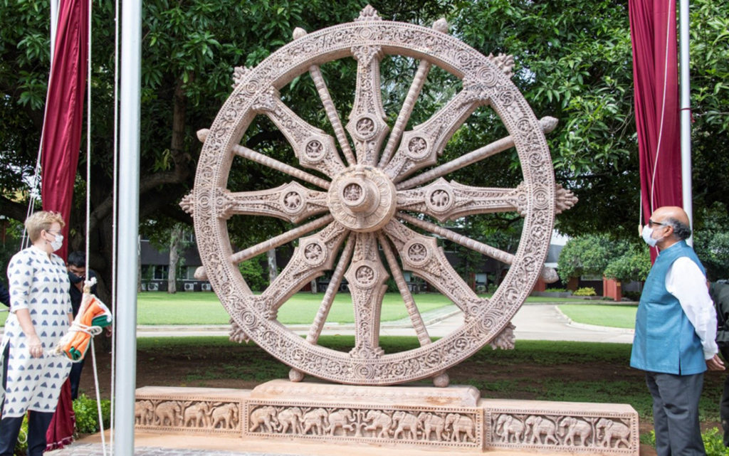 The new Konark Wheel at ICRISAT. Photo: PS Rao, ICRISAT